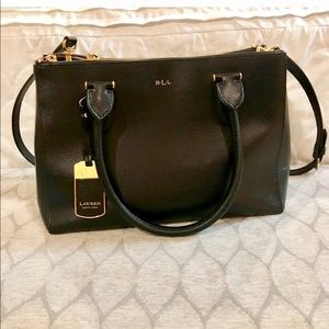 Ralph Lauren Newbury Double Zip Shopper Satchel